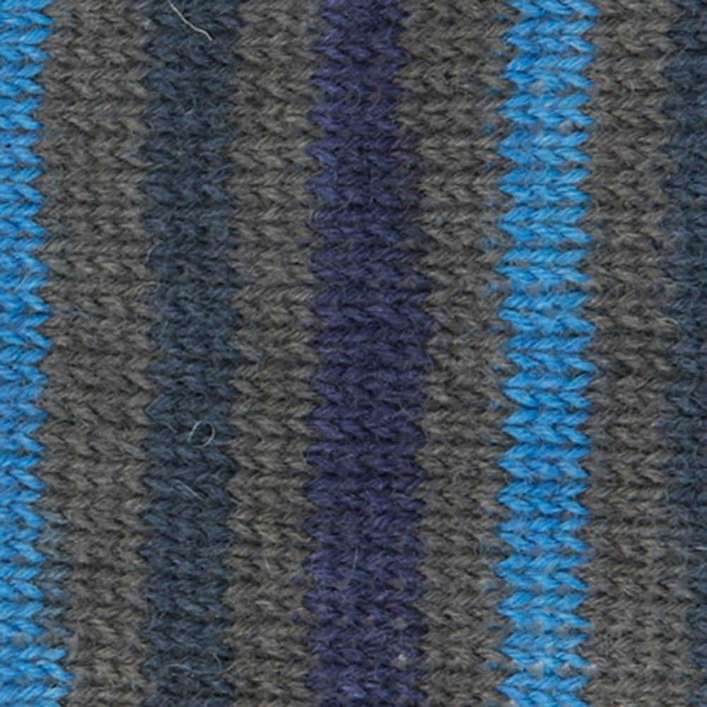 Kremke Soul Wool Edelweiss 4fach 100 Blaugraugestreift