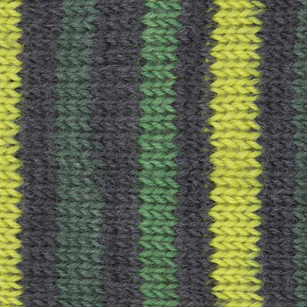 Kremke Soul Wool Edelweiss 4fach 100 Grünbraungestreift