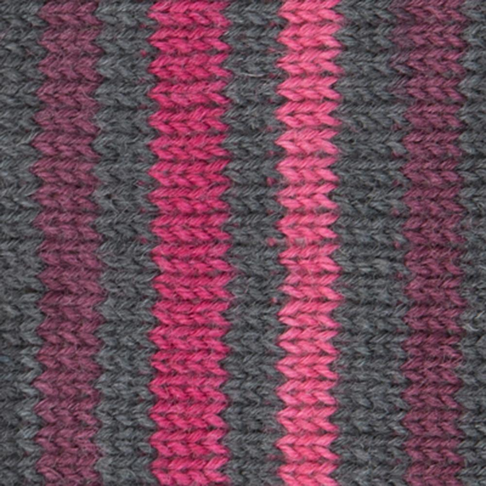 Kremke Soul Wool Edelweiss 4fach 100 Pinkbraungestreift