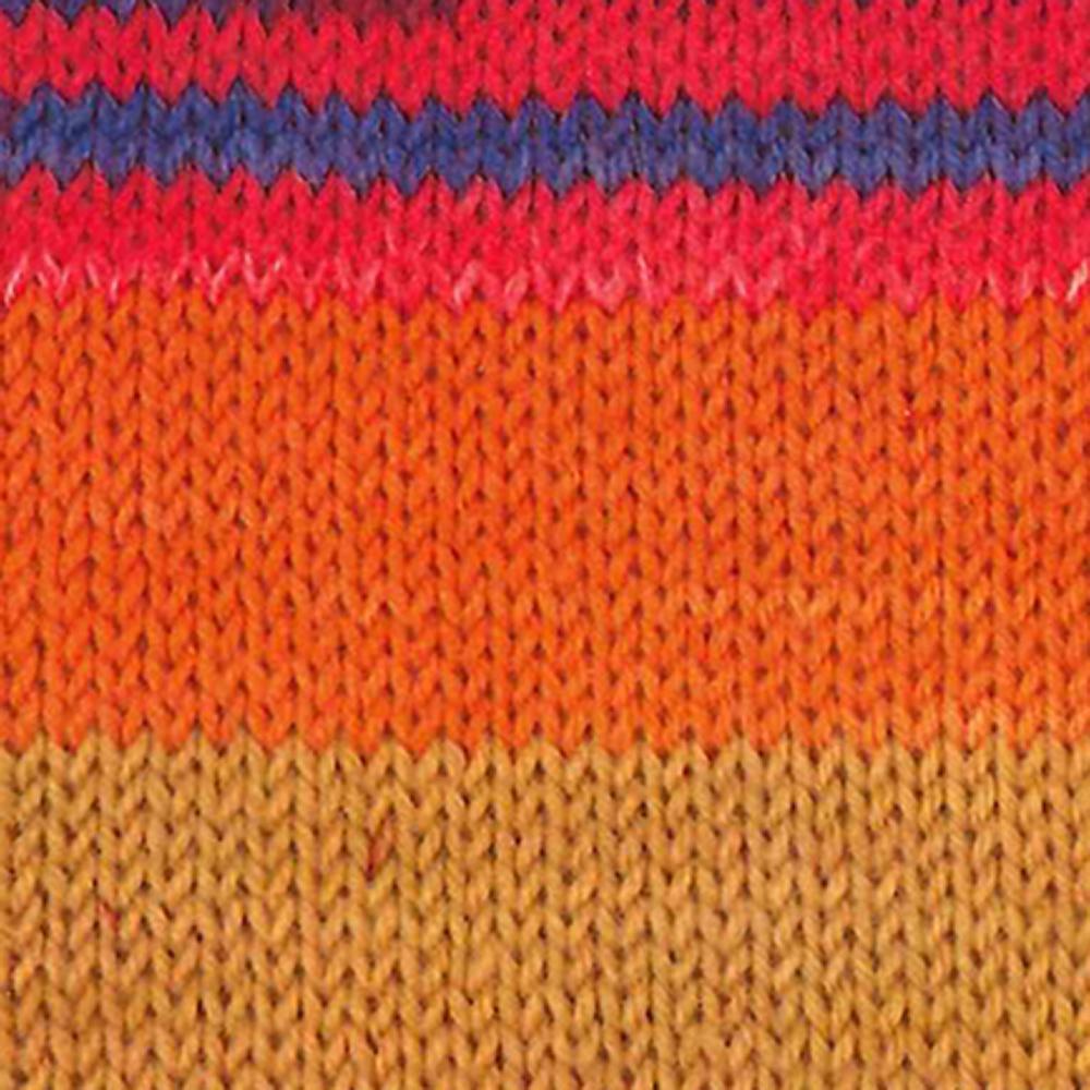Kremke Soul Wool Edelweiss 6fach 150 Orange Messing Blau gestreift