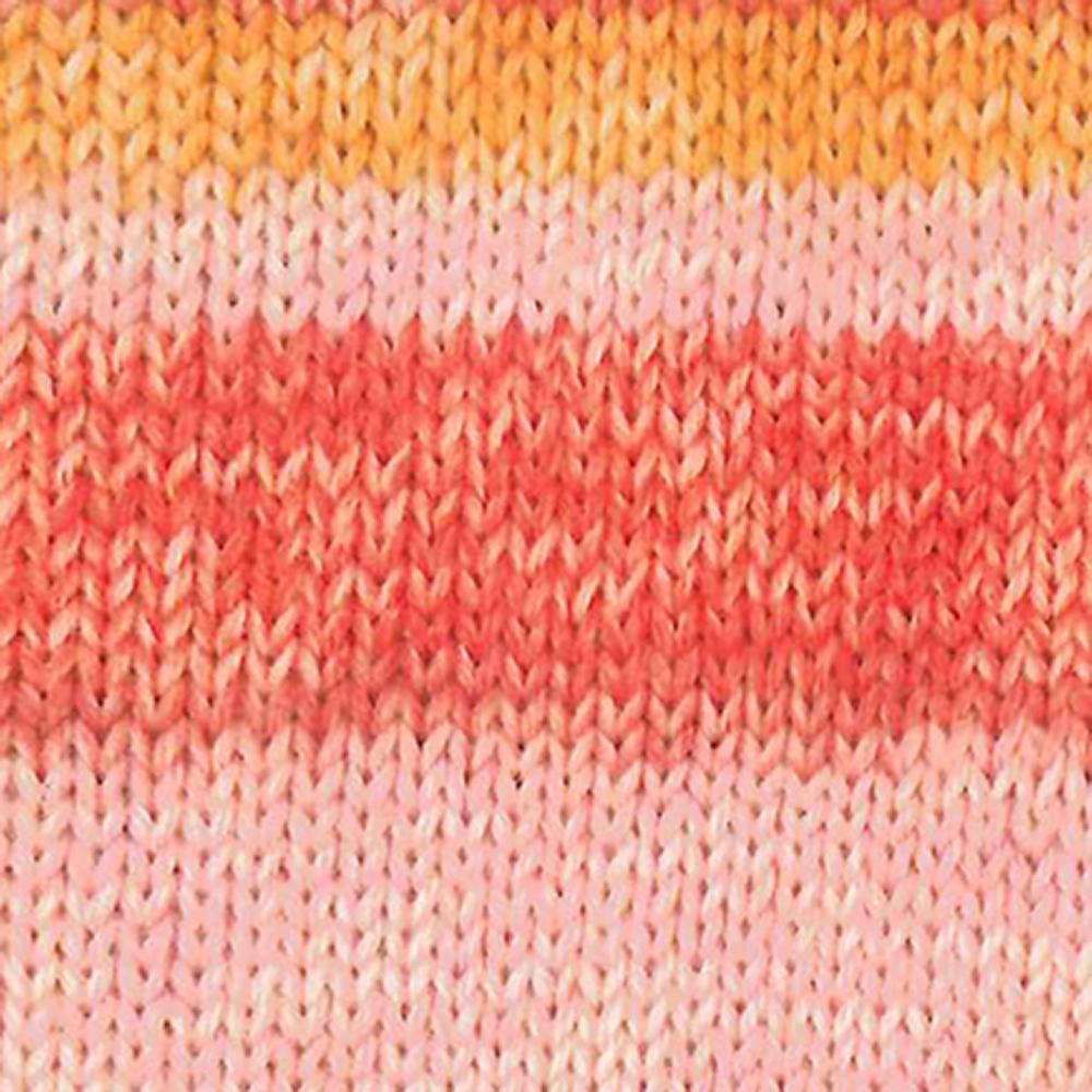 Kremke Soul Wool Edelweiss 6fach 150 Rosa mit Orange
