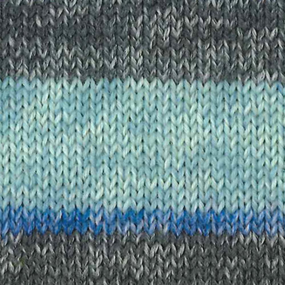 Kremke Soul Wool Edelweiss 6fach 150 Blau mit Grau