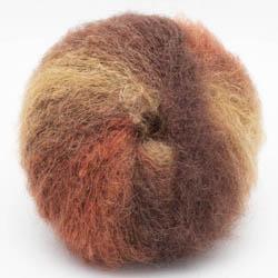 Kremke Soul Wool Baby Silk Fluffy Farbverlauf Rostbraun
