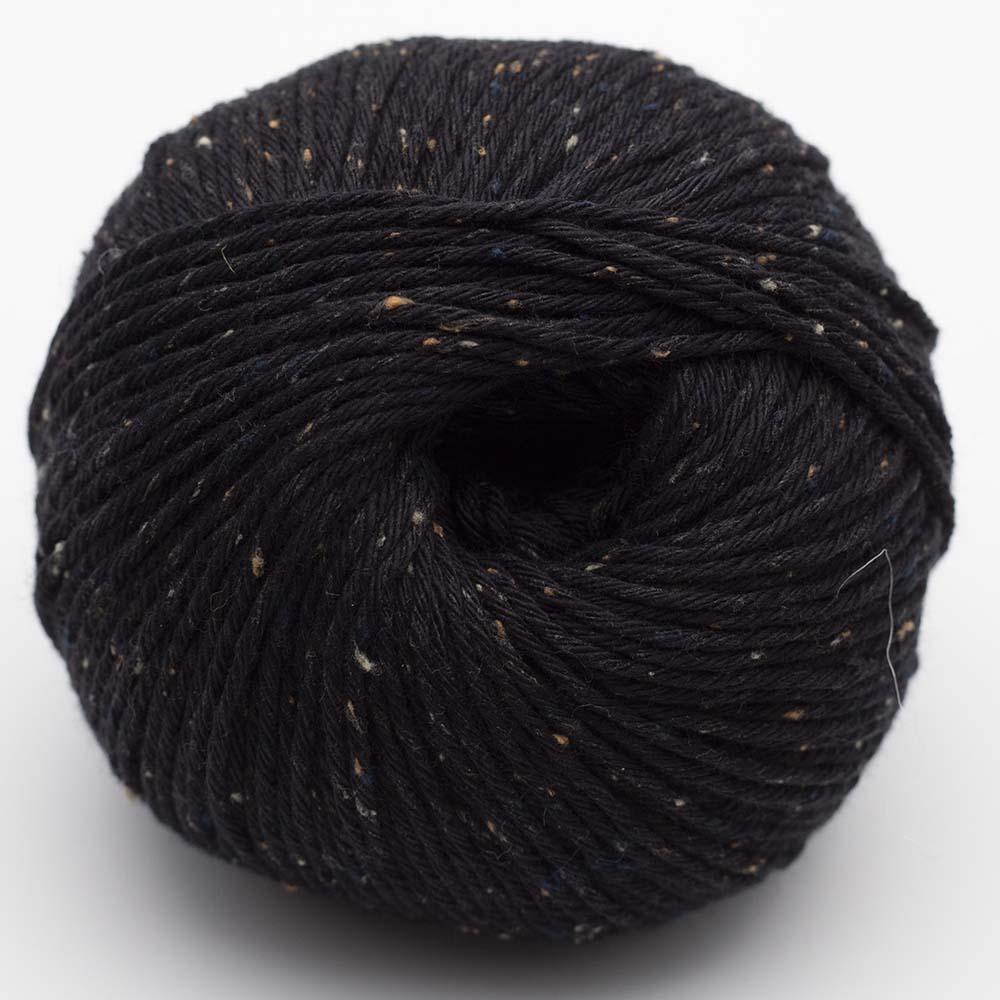 Erika Knight Gossypium Cotton TWEED Schwarz