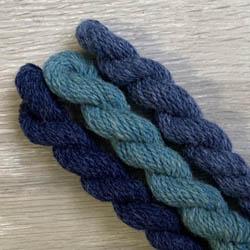 BC Garn Strickset Oversize Pullover Melange GOTS Blau
