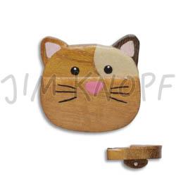 Jim Knopf Holz-Ösenknopf Katze Maus oder Hase 32mm Katze