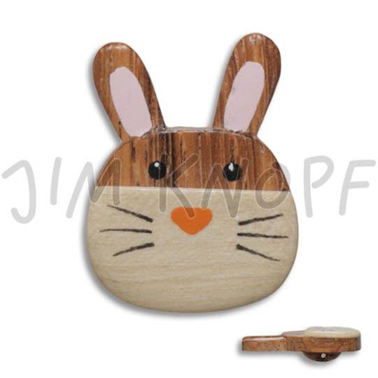 Jim Knopf Holz-Ösenknopf Katze Maus oder Hase 32mm  Hase