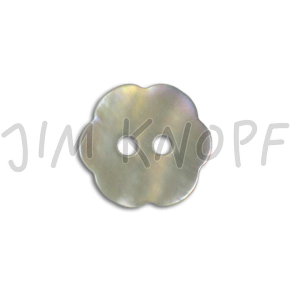 Jim Knopf Agoya Muschel Knopf Blümchen oder Herz 11mm