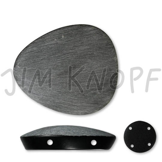 Jim Knopf Dreieckiger Resin-Knopf 26mm oder 39mm