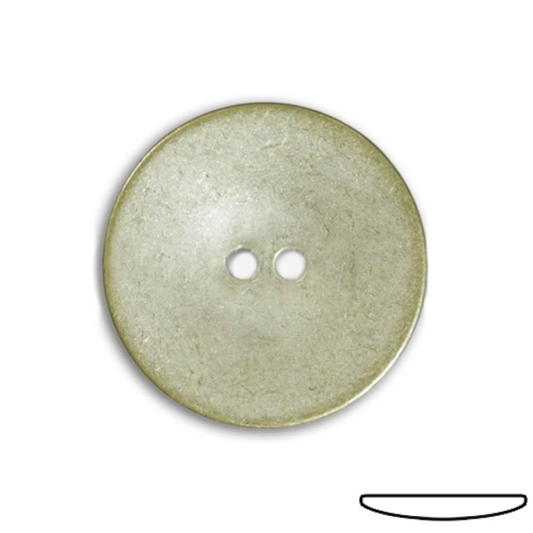 Jim Knopf Extra flacher Metallknopf in verschiedenen Größen