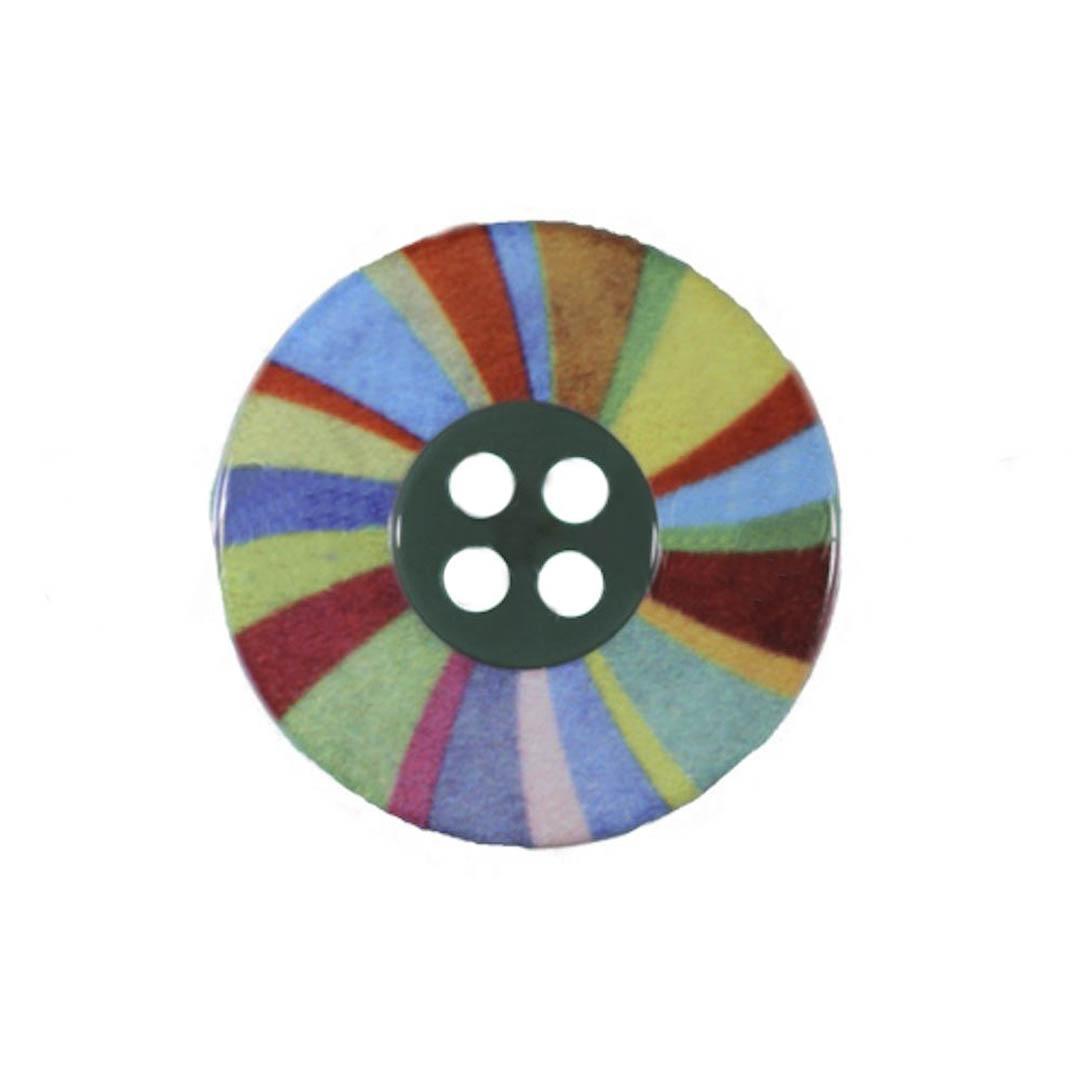 Jim Knopf Polyesterknopf Buntes Rad 16mm oder 23mm