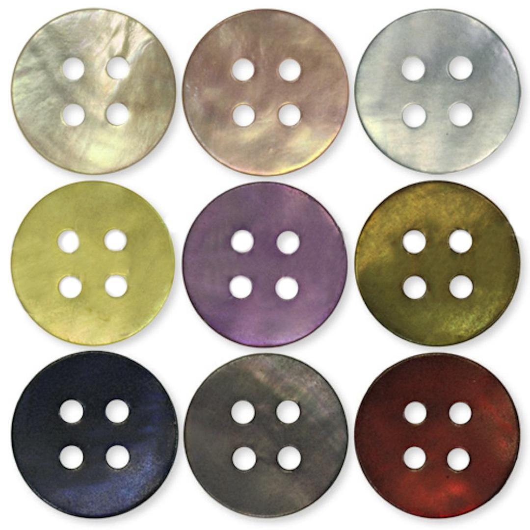 Jim Knopf Perlmuttknopf verschiedene Größen
