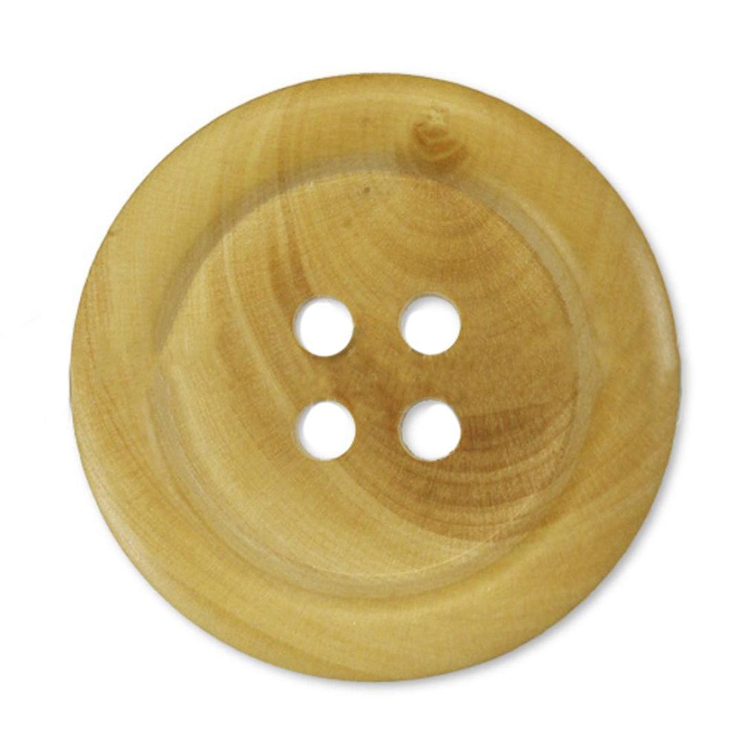 Jim Knopf Holzknopf klassisch in verschiedenen Größen