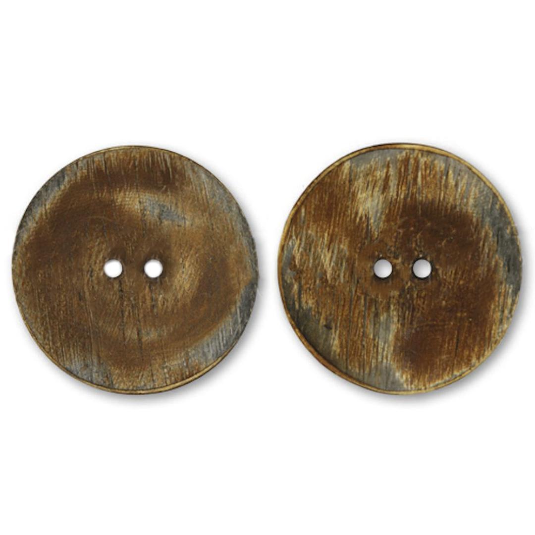 Jim Knopf Hornknopf mit 2 Löchern 34mm