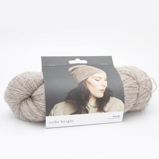 Knit Kits Wool Local Hat with pattern sleeves