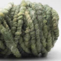 Kremke Soul Wool RUGby Teppichwolle gefärbt Hellgrün-Dunkelgrün