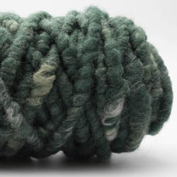 Kremke Soul Wool RUGby Teppichwolle gefärbt Jägergrün