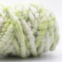 Kremke Soul Wool RUGby Teppichwolle gefärbt Kräftiggrün-Natur