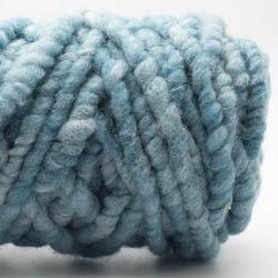Kremke Soul Wool RUGby Teppichwolle gefärbt Türkismeliert