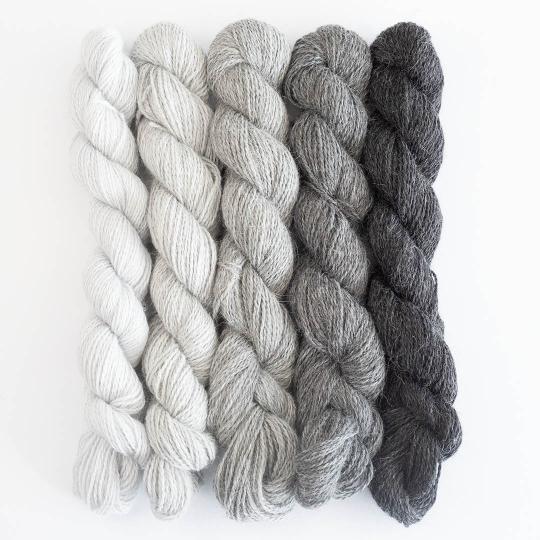 BC Garn Babyalpaca 10/2 SET 125g NEW Shades of Grey