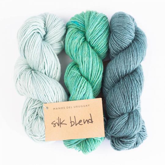 Silk Blend uni handgefärbt