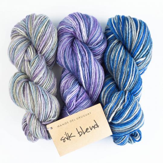 Silk Blend Farbverlauf handgefärbt
