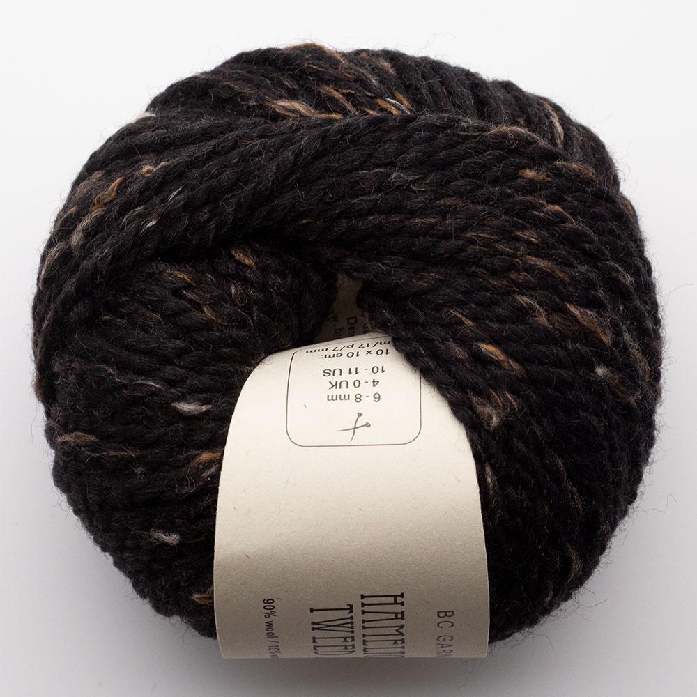 BC Garn Hamelton Tweed 2 schwarzbraun