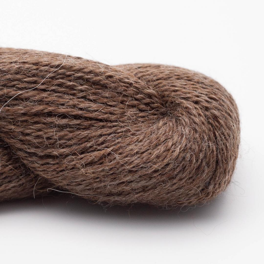 BC Garn Babyalpaca 10/2 braun-meliert (ungefärbt)