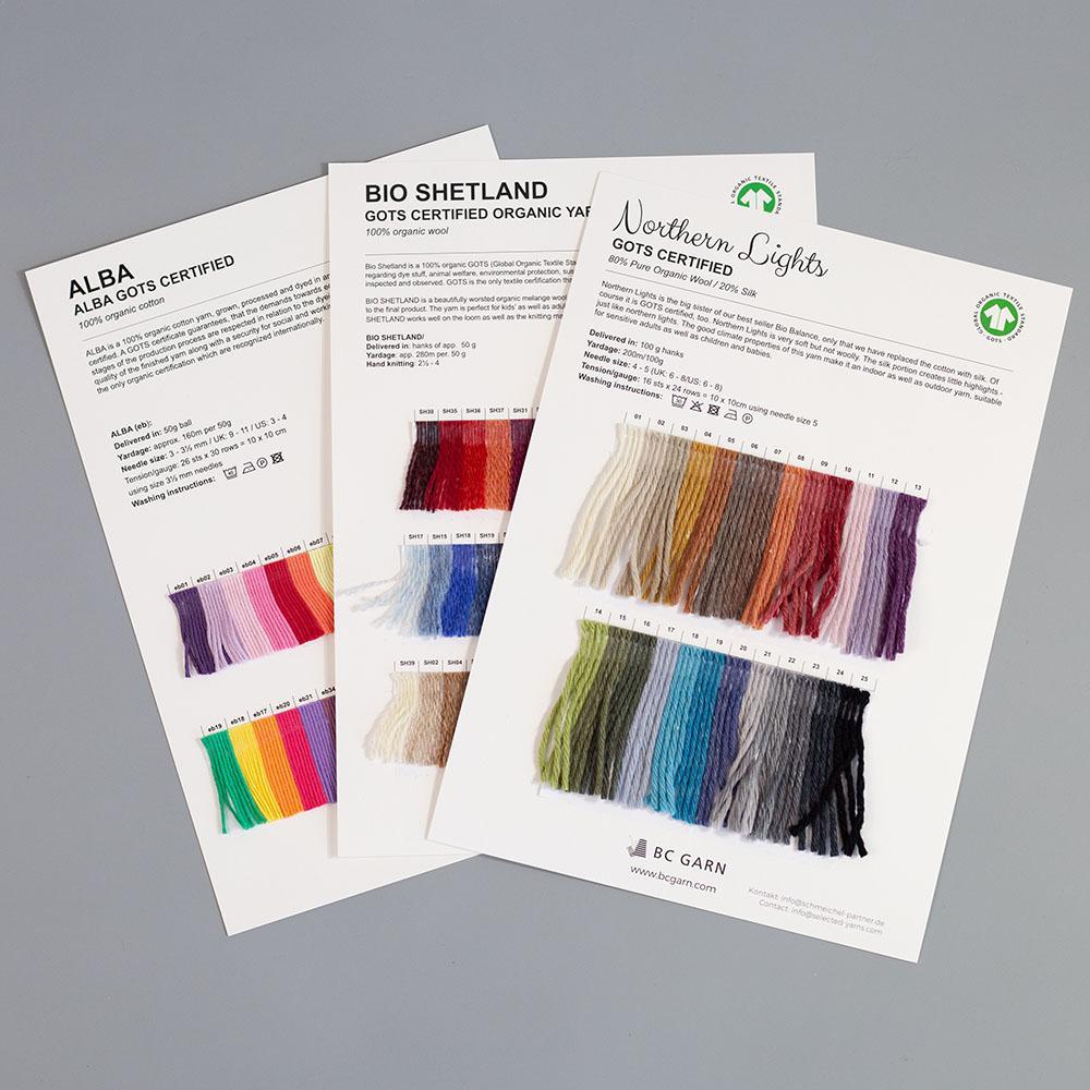 Farbkarten von BC Garn