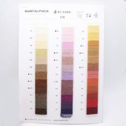 BC Garn Farbkarten von BC Garn Babyalpaka 10/2 50g and 25g with new colors