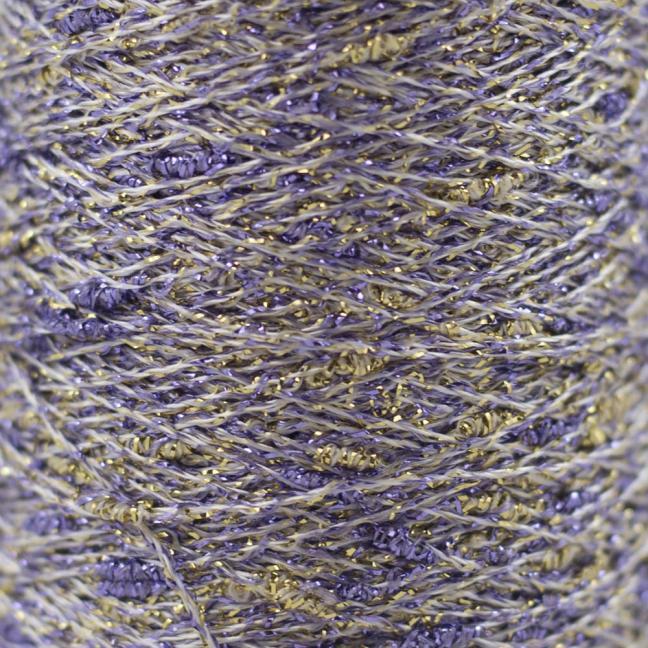 Karen Noe Design Stardust Lurexgarn lila-gold