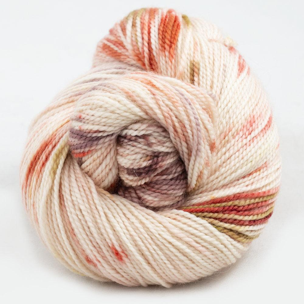 Cowgirl Blues Merino Twist Yarn Farbverlauf (100g) Peaches and Cream