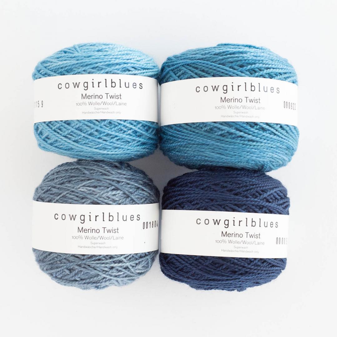 Cowgirl Blues Merino Twist Yarn solids  Airforce