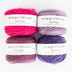 Cowgirl Blues Aran Single solids