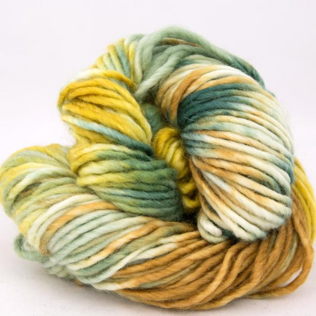 Cowgirl Blues Aran Single Farbverlauf (100g) MustardRustSageRainforest