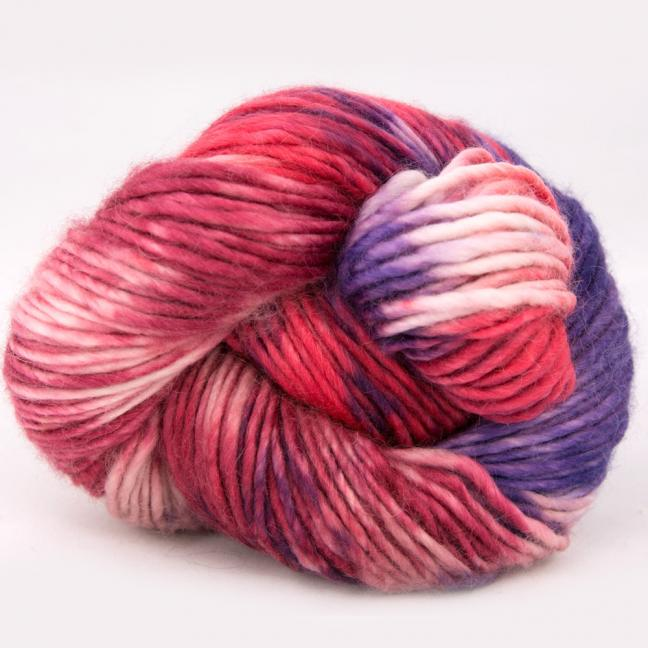 Cowgirl Blues Aran Single Farbverlauf (100g) LipstickFadedroseVioletDustyrose