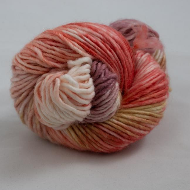 Cowgirl Blues Aran Single Farbverlauf (100g) RubygrapeCoralCaramelFadedrose