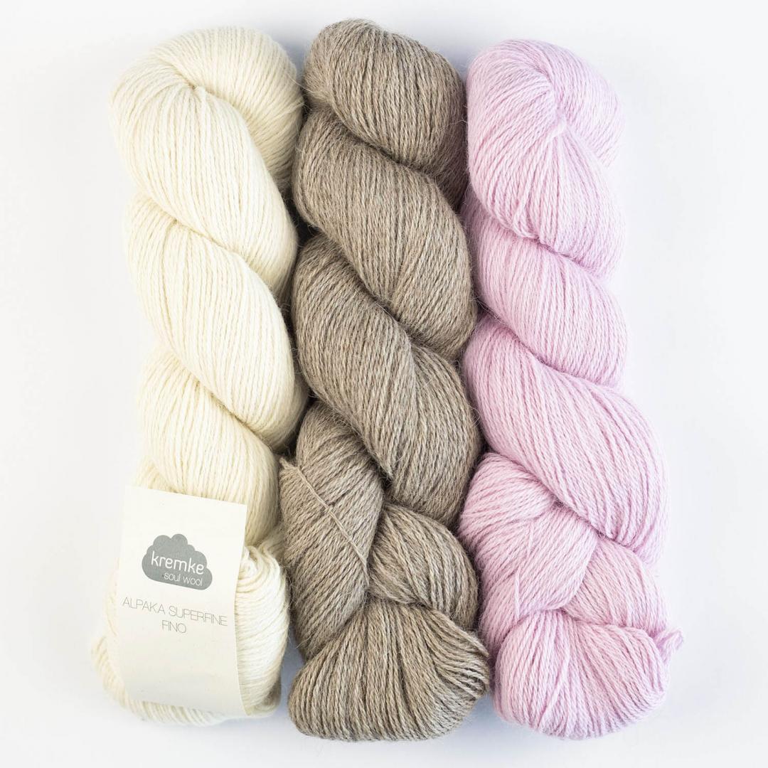 Kremke Soul Wool Alpaka Superfine Fino (100g)  Naturweiß