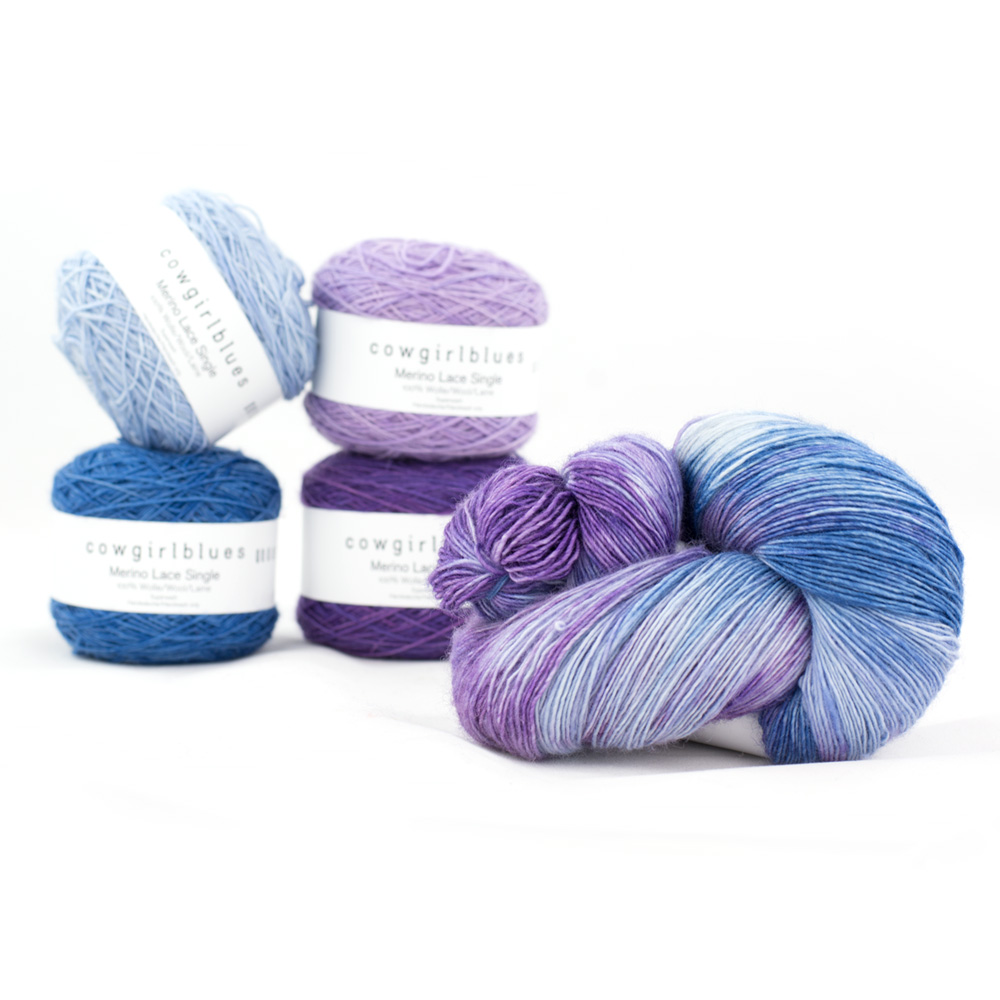 Cowgirl Blues Merino Single Lace Farbverlauf 100g