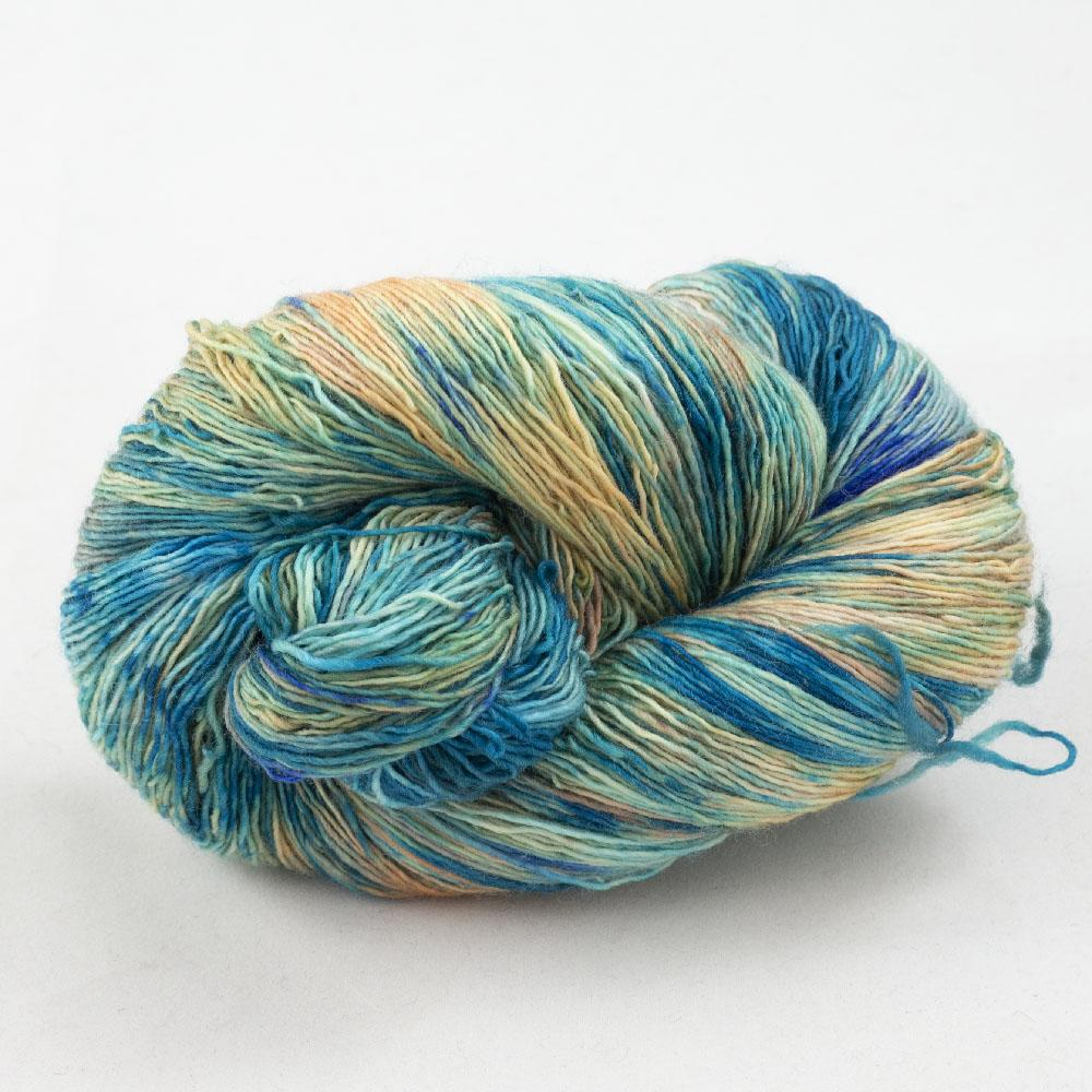 Cowgirl Blues Merino Single Lace Farbverlauf  Shorebreak