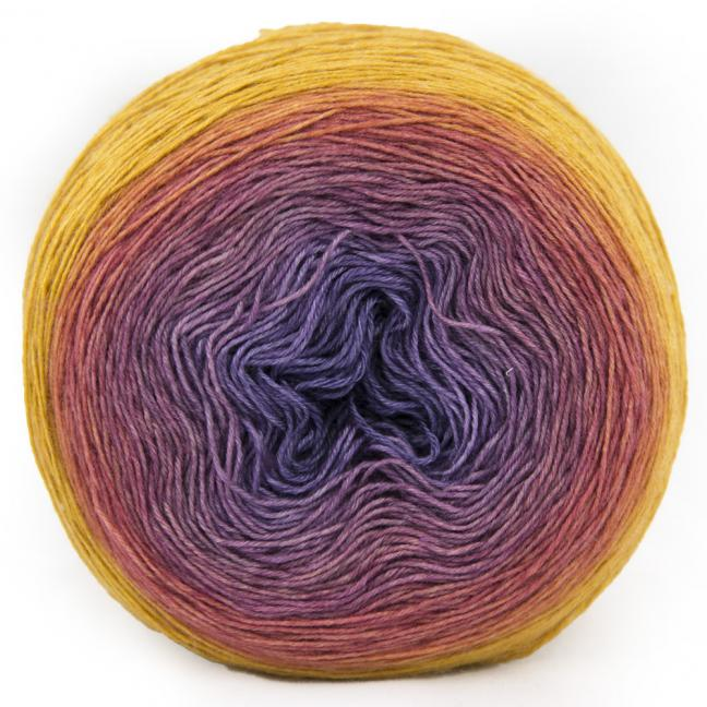 Silkwool Rainbow Lace hand dyed by Bilum (100g)